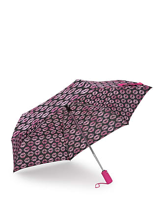 Betsey Johnson Smooches Patterned Auto Open & Close Umbrella