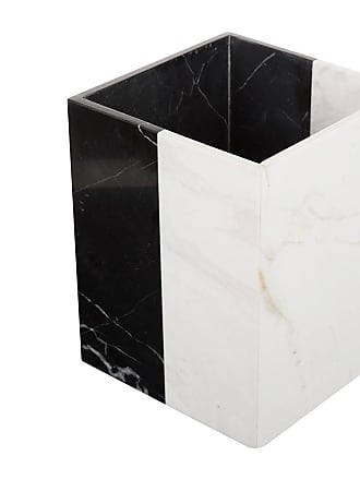 Jonathan Adler Canaan Trash Basket - Black/White Marble