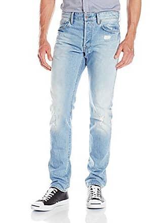 G-Star Mens 3301 Tapered Leg Jean In Wisk Denim Light Aged Destroyed, Light Aged Destroy, 32x34