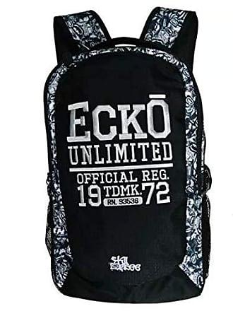 Ecko Mochila Original Ecko Unltd Preta Cinza Alça Com Espuma