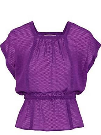 Etro Etro Woman Fil Coupé Silk-gauze Top Purple Size 38