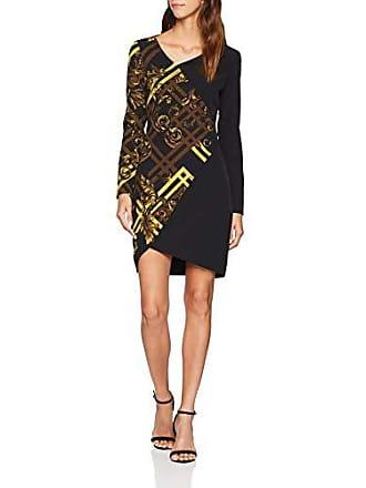 Versace Jeans Couture Lady Dress Vestito, Nero E899, X,Large (Taglia  Produttore