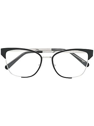 Salvatore Ferragamo Armação de óculos bicolor - Metálico