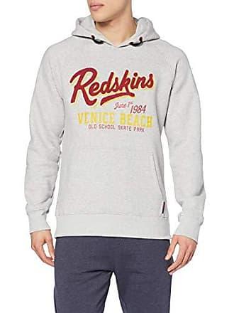 1123e8fc0d0b5 Redskins Deep State Collusion Sweat-Shirt à Capuche, Gris (Grey Chiné Grch)