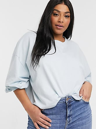 Urban Bliss balloon sleeve sweater in blue