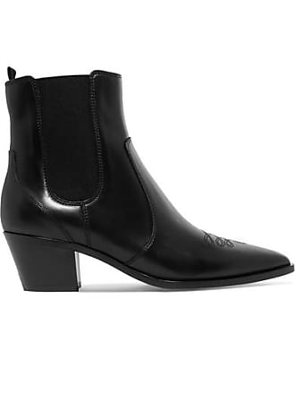 Gianvito Rossi Austin 45 Leather Chelsea Boots - Black