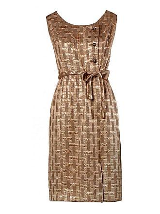962262d324f 1stdibs 1960s Vintage Metallic Brocade Cocktail Dress