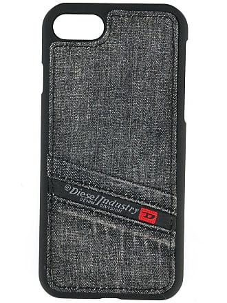 Diesel Capa jeans para iPhone 7 - Preto