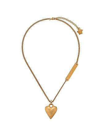 Versace heart motif necklace - Dourado