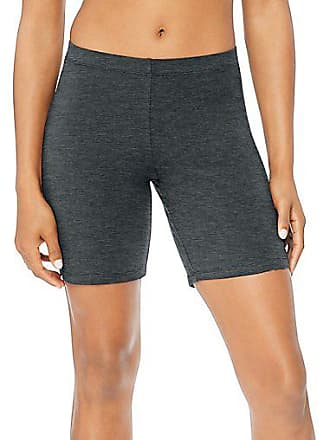 Hanes Womens Stretch Jersey Bike Shorts Charcoal Heather 2XL