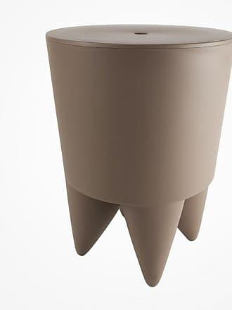 XO Design Bubu Ier Hocker - hellbraun/durchgefärbt/H 43cm/Ø 32,5cm