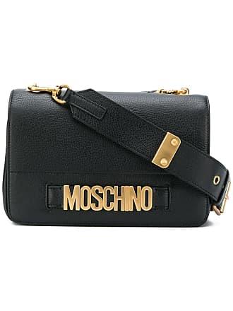 Moschino Logo Shoulder Bag Black