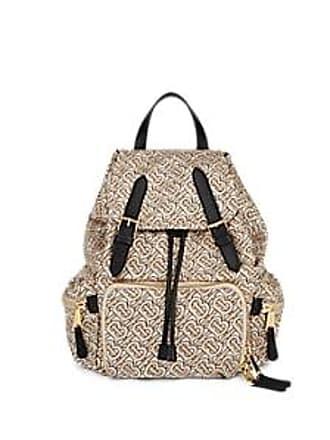 f586a0f9aff6ae Burberry Womens Monogram Polished Twill Backpack - Beige, Tan