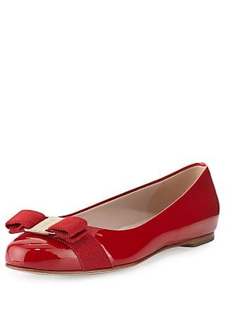 395ade37cb3a0 Salvatore Ferragamo® Patent Leather Ballet Flats − Sale: up to −63 ...