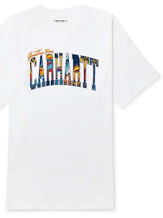Carhartt Work in Progress Logo-print Cotton-jersey T-shirt - White