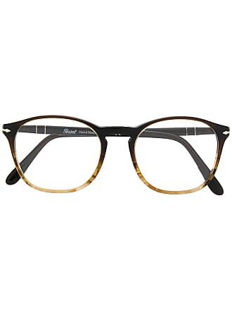 Persol Armação de óculos redonda - Marrom