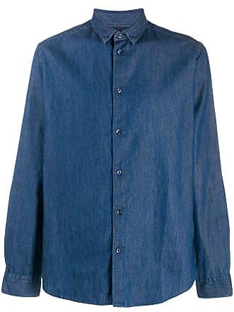 Natural Selection Camisa jeans com abotoamento - Azul