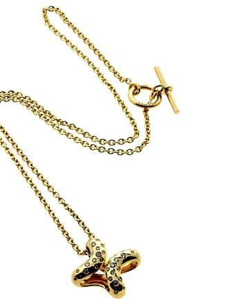 Hermès Diamond H Gold Necklace