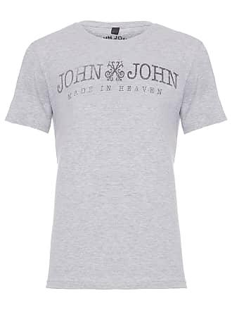 John John T-SHIRT MASCULINA JJ BASIC MELANGE - CINZA