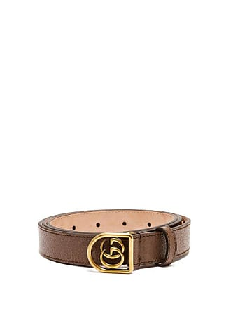 44c52a4b9b8 Gucci Gg Encased Buckle Grained Leather Belt - Mens - Brown