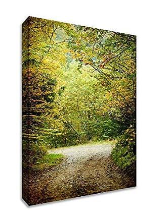 Tangletown Fine Art Summers End Gallery Wrap Canvas, Green