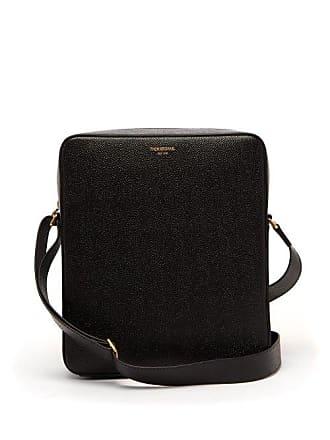 Thom Browne Pebbled Leather Cross Body Bag - Mens - Black