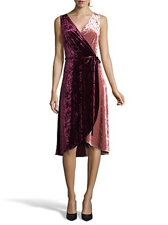 5twelve Crushed Velvet Sleeveless Wrap Dress