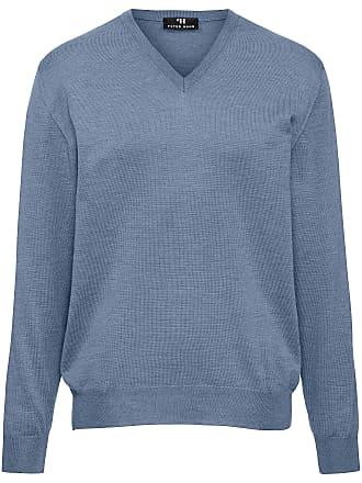 Peter Hahn V-Pullover aus 100% Schurwolle-Merino extrafein Peter Hahn blau add2dd45cf