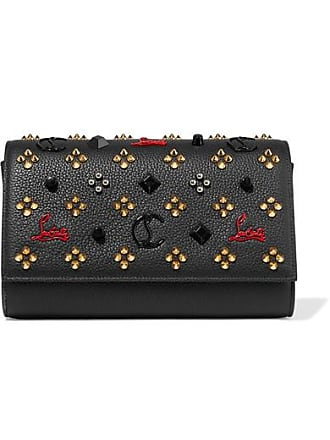 0066034d626 Christian Louboutin Paloma Embellished Textured-leather Clutch - Black