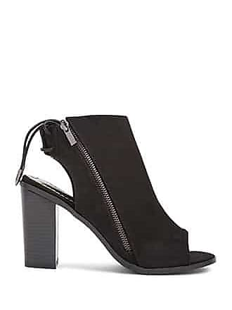 Forever 21 Forever 21 Faux Suede Cutout Booties Black