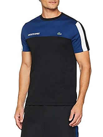 bc200bf5dbd5 Lacoste Sport TH9472 T-Shirt Homme Bleu (Encrier Noir Blanc Fz3) X