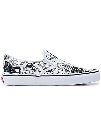 f1c295fd34 Vans newspaper print slip-on sneakers - White