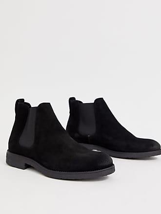 49999673a34409 River Island Elegante Stiefel aus schwarzem Wildleder - Schwarz