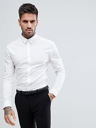 e995c5f29 New Look muscle fit poplin shirt in white - White
