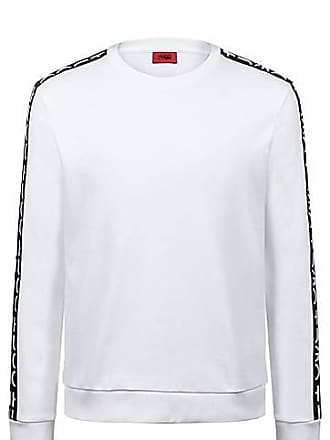 3281e7f7281 HUGO BOSS Sweat en coton interlock avec ruban à logo revisité sur les  manches109.00