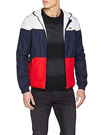 Lacoste Sport BH3588, Blouson Homme, Bleu Marine-Rouge Blanc A10, Large ( 8767d4d5ddf6