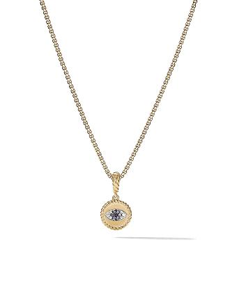 dbd09e3bfb706b David Yurman 18kt yellow gold Amulets diamond and sapphire Evil Eye pendant  - 88Absbddi
