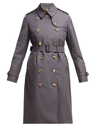 Burberry Trench-coat long en gabardine de coton Kensington b9e899a607f