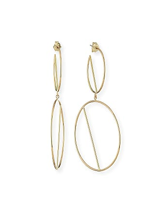 Lana Jewelry 14k Double-Wire Eclipse Hoop Earrings