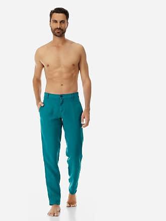 Vilebrequin Men Ready to Wear - Men straight Linen Pants Solid - PANT - PANACHE - Green - XXXL - Vilebrequin