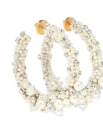 Oscar De La Renta Embellished hoop earrings