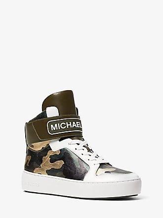 Michael Kors Trent Metallic Camo High-Top Sneaker