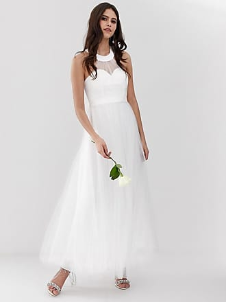 Y.A.S sweetheart tulle maxi wedding dress in white - White