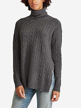 Polo Ralph Lauren Pull col roulé laine et cachemire à fentes Gris Polo  Ralph Lauren c71b00917dae
