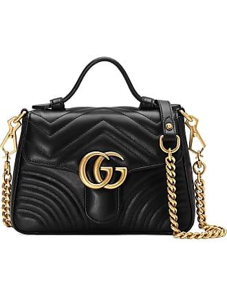 Gucci Bolsa GG Marmont mini - Preto d2d5ba488b4