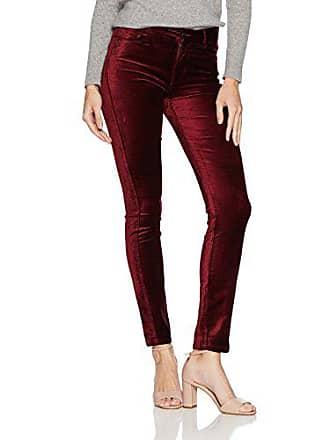 Paige Womens Hoxton Velvet Skinny Jeans, Dark Magenta, 32