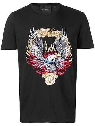 John Richmond Camiseta com aplicações - Preto