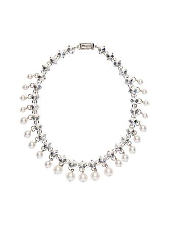 Miu Miu crystal and pearl necklace - Neutro
