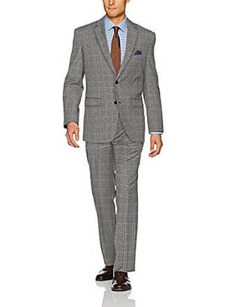 U.S.Polo Association Mens Nested Suit, Light Grey Glen Plaid, 40 Long