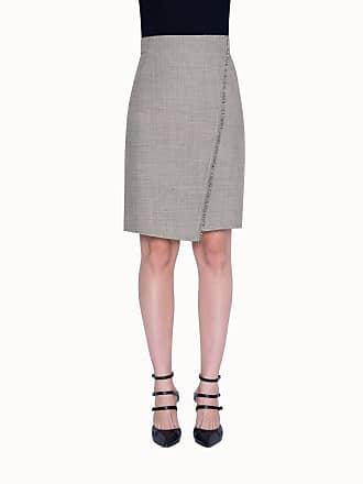 Akris Wrap Style Pencil Skirt in Wool